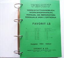 Fendt Favorit 600 LS Werkstatthandbuch Reparaturanleitung Schlepper