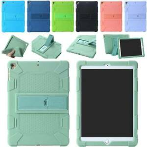 For iPad 10.2 9.7 2017/2018 Air 2 3 Pro 2020 Case Soft Silicone Cover Hard Stand