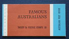 Australia (#446a-449a) 1968 Famous Australians Mnh complete booklet