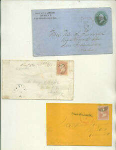 ODDBALL ASSORTMENT OF POSTAL HISTORY COVERS