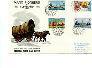 Isle of Man 1975 Manx Pioneers FDC cancelled Ballasalla