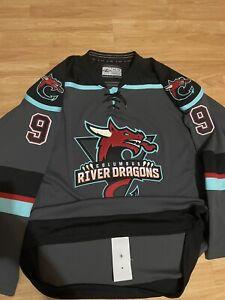 Game Worn Columbus River Dragons Clarke Cottonmouths FPHL Hockey Jersey 54 Minor