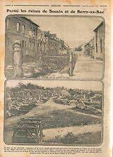Ruines Souain-Perthes-lès-Hurlus & Berry-au-Bac Bataille de l'Aisne  WWI 1915