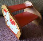"Vintage IRMI ELEPHANT CIRCUS Child's Wood Step Stool Seat Bookshelf 11""X12""X9.5"""