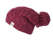 Kusan 100% Wool Thick Yarn Cable Knit Floppy Bobble/Pom Hat (PK1128)