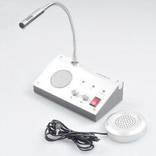 Dual Way Intercom Window Counter Interphone Mic Speaker For Security Company