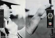 Publicité advertising 1990 (2 pages) Montre Tag Heuer Serie chrono Super 2000