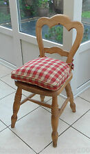 *NEW STYLE* FARMHOUSE CHECK SEAT / CHAIR PAD / CUSHION / RED & BEIGE CHECK