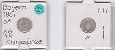 1 Kreuzer Silber Münze Bayern 1861 (121824)