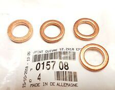4X Turbo Oil Feed Pipe Washers For Citroen Peugeot 1.6HDi 015708