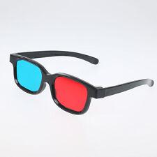 4pcs Rouge Bleu 3D Lunettes Glasses Vision Anaglyphe PR Cinéma Film Jeu TV DVD -
