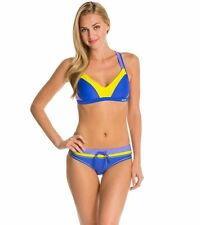 Reebok-Watercolor Kerry Sport 2 pc. Bikini swimsuit,  size: X-Large, Blue/Yelw