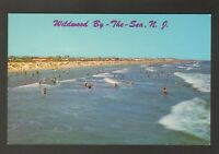 Unused Postcard Ocean and Beach Wildwood by the Sea New Jersey NJ