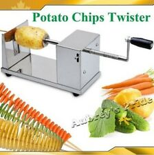 Manual Stainless Steel Potato Chips Slicer Spiral Twister Vegetable Cutter