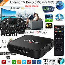 4K HD WIFI Smart TV BOX Android 5.1 Octa Core KODI Media Player+Keyboard