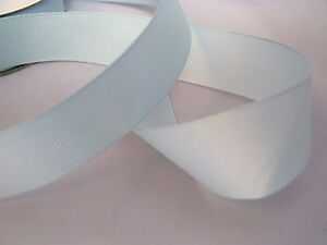 LIGHT BLUE Grosgrain Ribbon. 25m Full Reels. 10mm 25mm widths