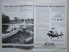 1984 PUB AGUSTA A109 MEDEVAC CANGURO MUX FLIGHT MANAGEMENT SYSTEM ORIGINAL AD