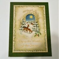 Holiday Season Christmas Greeting Cards Paper Magic Group 7 Count 7'' x 5''
