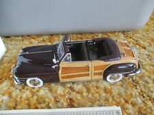 Danbury Mint 1/24th scale 1948 Chrysler Town & Country Convertible die cast