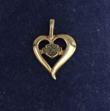 Harley Davidson 10k Yellow Gold Heart Pendant