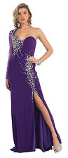 Dress Prom Purple Sexy Ball Gown Party Gala Prom Evening Pageant Cocktail SZ 10