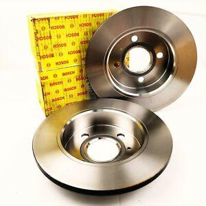 2x Bosch 0986478501 Brake Discs Set Ø240mm Front For Ford Fiesta III Orion III