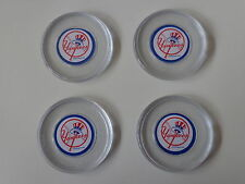 New York Yankees 4 Pack Round Acrylic Drink Coaster Set In Reusable Container