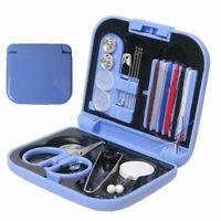 Travel Sewing Kit Thread Needles Mini Case Plastic Tape Portable Pins Sciss X8L9