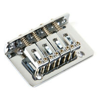 Chrome 4 String Bridge Fixed Bridge For Mandolin Ukulele Cigar Box Guitar