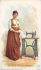 1892 Singer Manufacturing Co. Trade Sewing Card Bosnia ( Austria-Hungary )