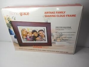 """Sonicgrace 8"""" Widescreen Wi-Fi Cloud Digital Photo Frame with IPS Display, HD..."""