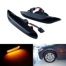 Noir LED Feux Clignotant Répétiteur Jaune Pour BMW X3 E83 X1 E84 E90 E91 E92 E93