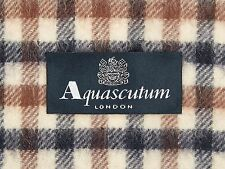 Aquascutum Pure Lambswool Scarf Classic House Check