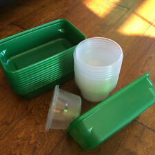New listing lot of 11 rectangular ziplock containers and lot of 18 round , - no lids,art,