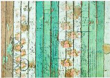 CIALDE di riso per decoupage Decopatch Scrapbook craft Sheet SHABBY verde recinto
