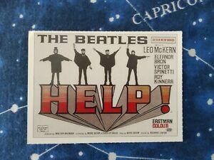 THE BEATLES  HELP!  AIUTO 1965 MINI LOCANDINE CIAK JOHN LENNON MCCARTNEY RINGO