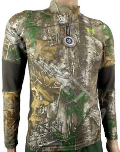 Under Armour Youth ColdGear Scent Control Performance Wear Fitted Shirt RTX UA
