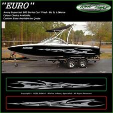 "BOAT GRAPHICS DECAL STICKER KIT ""EURO -3200""  MARINE CAST VINYL"