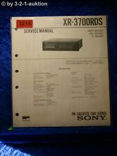 Sony Service Manual XR 3700RDS Cassette Car Stereo (#3215)