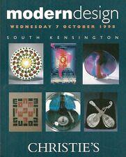 Christie's Sale 8147 Modern Design Deco U.K. Auction Catalog 1998