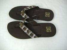 New Mens 5 DC Shoes Habit Brown Plaid Surf Beach Sandals $25