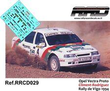DECAL/CALCA 1/43; Opel Vectra Proto; Climent-Rodriguez; Rally de Vigo 1994