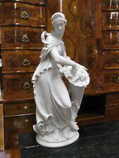 Alte Volkstedt 69 cm Gustav Oppel Art Deco Schwarzburger Werkstätten Figur