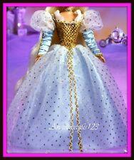 Cinderella Barbie blue gold dress gown dress model muse silkstone Barbie