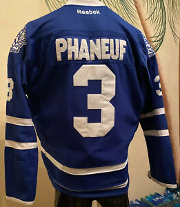 NHL Toronto Maple Leafs #3 Dion Phaneuf Game Authentic Hockey Jersey. Mens 56