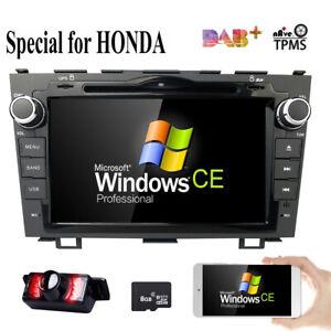 "8"" Honda CRV Car DVD GPS Player Auto DAB+ radio Head Unit Sat Nav CR-V 2007-2011"