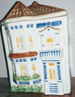 Avon Representative Exclusive Townhouse Canister Ltd Edition 3 cup Handpainted