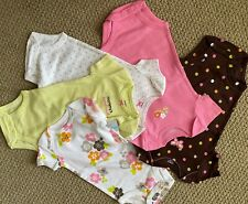 Carter's 5 Pack Bodysuits 6 M S/S Mommy Sweetheart Heart Butterfly Girl's Nwt