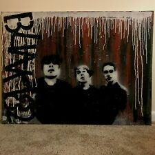 Paul Minutoli (Baltimore) Portrait of Blink 182 Rock Band Oil on Canvas Painting