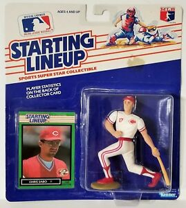 1989 Starting Lineup Chris Sabo Cincinnati Reds SLU Kenner Sports Figure STK STN